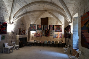 Art in the Castle of Le Jardin Médiéval d'Uzès, FR 2019