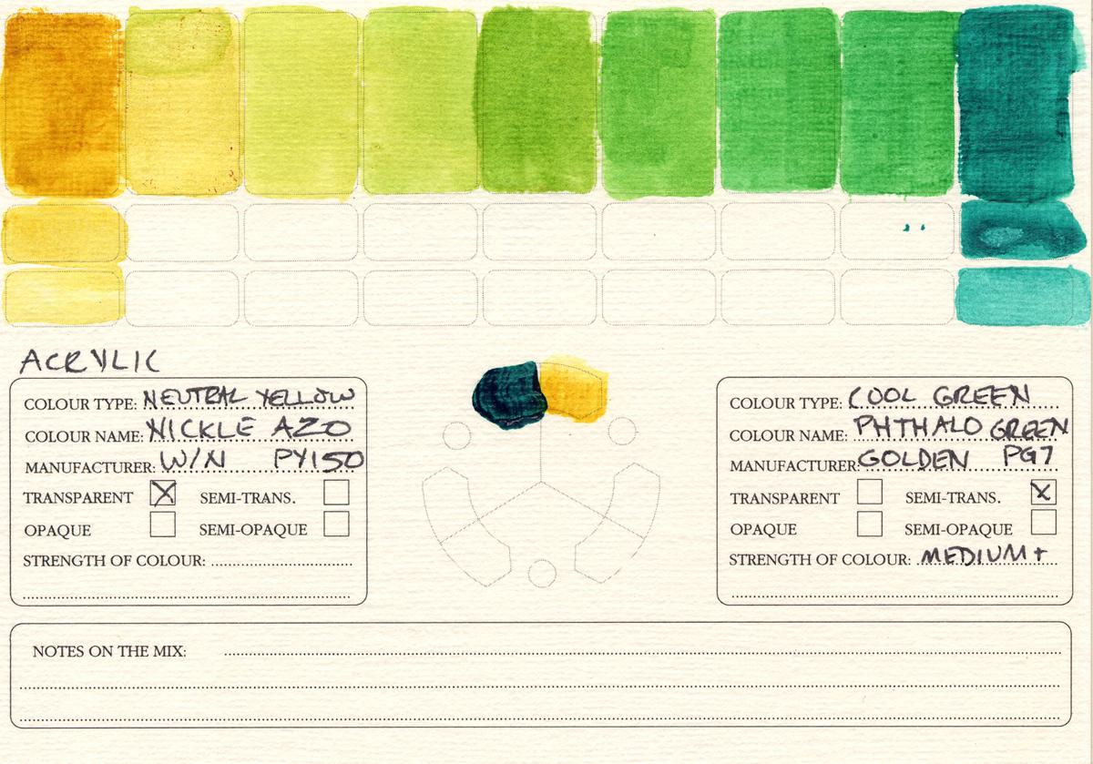 Color-Studies-Acrylic-Nickel-Azo-to-Phthalo-Green