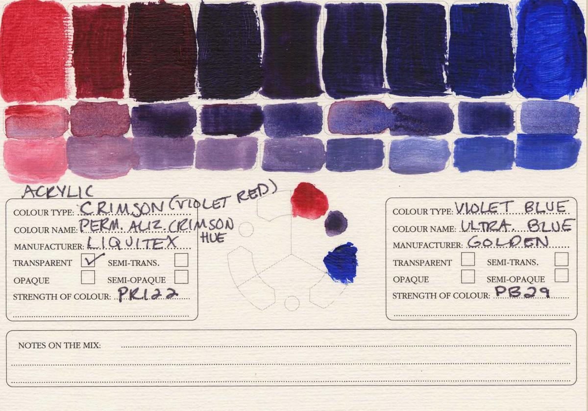 Color-Studies-Acrylic-Permanent-Alizarin-Crimson-to-Ultramarine-Blue