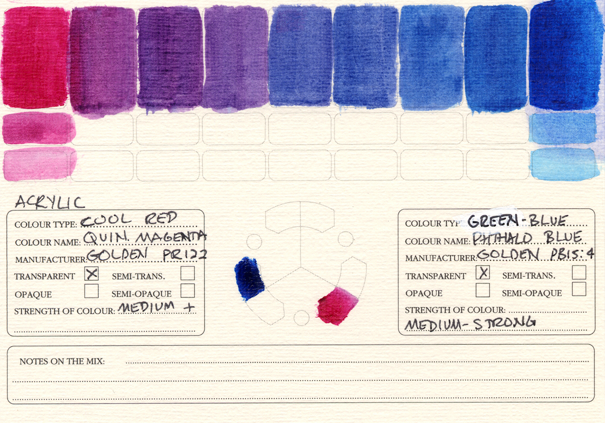 Color-Studies-Acrylic-Quinacridone-Magenta-to-Phthalo-Blue