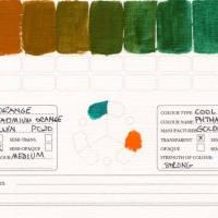 Color-Studies-Acrylic-Cadmium-Orange-to-Phthalo-Green