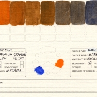 Color-Studies-Acrylic-Cadmium-Orange-to-Ultramarine-Blue