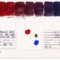 Color-Studies-Acrylic-Cadmium-Red-Medium-to-Cobalt-Blue-Hue