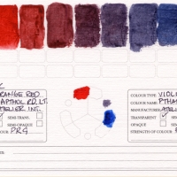Color-Studies-Acrylic-Napthol-Red-Light-to-Phthalo-Blue-Red-Shade