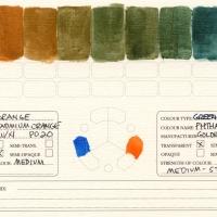 Color-Studies-Acrylics-Cadmium-Orange-to-Phthalo-Blue