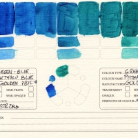 Color-Studies-Acrylics-Phthalo-Blue-to-Phthalo-Green