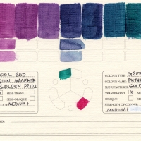 Color-Studies-Acrylics-Quinacridone-Magenta-to-Phthalo-Green