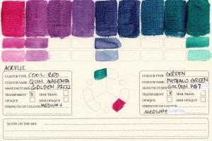 Color Mixing Charts - Acrylics