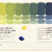 Color-Mixing-Charts-Oils-Cadmium-Yellow-Lemon-to-Ultramarine-Blue