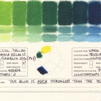 Color-Mixing-Charts-Oils-Hansa-Yellow-Light-to-Prussian-Blue