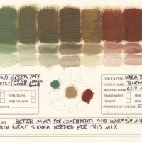 Color-Mixing-Charts-Oils-Mid-Green-Mix-to-Burnt-Sienna
