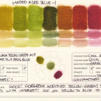 Color-Mixing-Charts-Oils-Warm-Yellow-Green-Mix-to-Quinacridone-Magenta