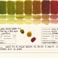 Color-Mixing-Charts-Oils-Warm-Yellow-Green-Mix-to-Quinacridone-Violet2