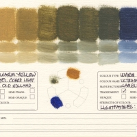 Color-Mixing-Charts-Oils-Yellow-Ochre-Light-to-Ultramarine-Blue