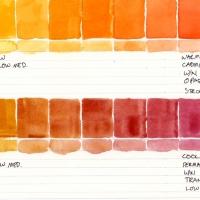 Color-Studies-Watercolor-Cadmium-Yellow-Medium-to-Cadmium-Scarlet-and-Permanent-Magenta-011