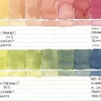 Color-Studies-Watercolor-Lemon-Yellow-to-Permanent-Magenta-and-Ultramarine-Blue-009