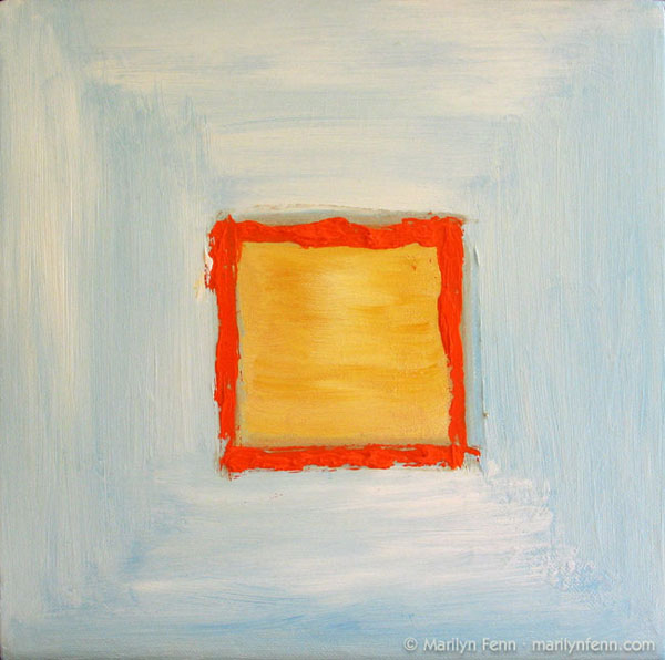 Yellow Square in Blue